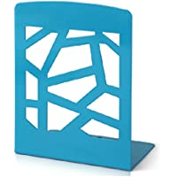 1 Coppia di fermalibri in metallo con decorazioni stile moderno Home Decor blu