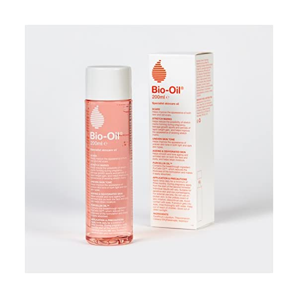 Bio-Oil, Skincare Oil Improve the Appearance of Scars Stretch Marks and Uneven Skin Tone, 200 ml