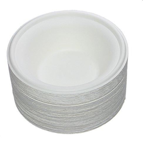 Benail - Juego de 50 cuencos redondos desechables ecológicos 100{d84358242a60cb54f62a240ccfbc780b3fc3899939cd7aa040ffc23ac97583d7} de caña de azúcar natural, biodegradables, sin arbol ni plástico