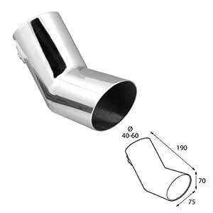 ER60013 - embout d'échappement Sortie en acier inoxydable poli, silencieux à Garniture pour visser universel
