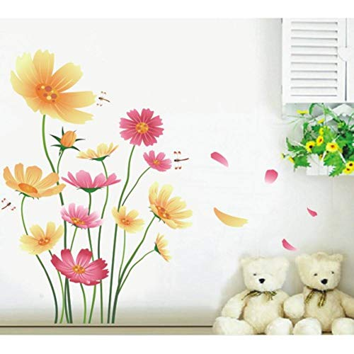RYTHN Tür-Wandaufkleber DIY Daisy wohnkultur wandaufkleber Wohnzimmer Moderne Dekoration Poser Schlafzimmer tapete -