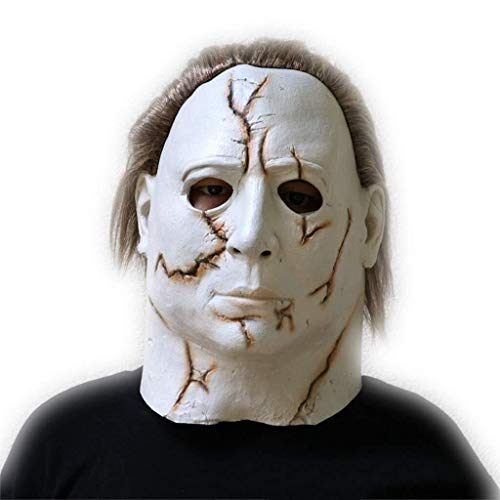 Funny Kostüm Ghost - Halloween Latex Kopf Masken, Horror Haunted House Kostüm Zombie Funny Scary Creepy Ghost Kostüm