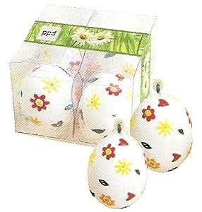 PPD - Bougies - Oeuf de Pâques - pack de 4 blanc