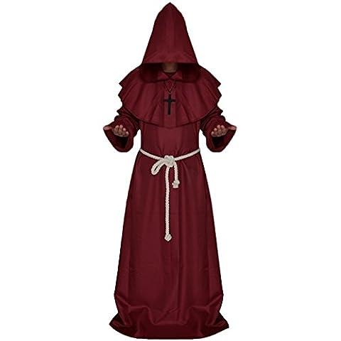 Halloween Costume De Costume Rouge - MagiDeal Moine Costume Robe Extra Longue à