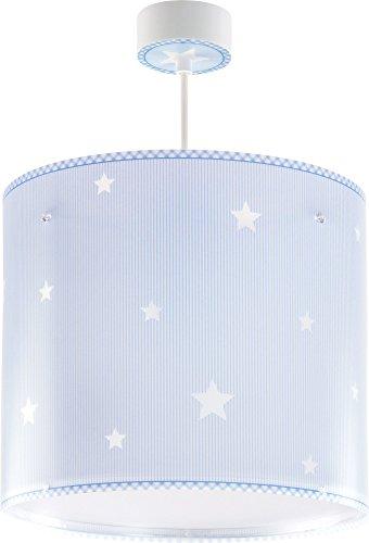 Dalber 62012T Sweet Dreams, Lámpara colgante Estrellas azul, E27, Clase de eficiencia energética A++ a C