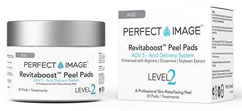 Perfect Image Revitaboost Peeling Anti Aging Peeling Pads – Angereichert Mit Glykolsäure,Tca,Mandelsäure,Arginin,Glutamin,Sojabohne