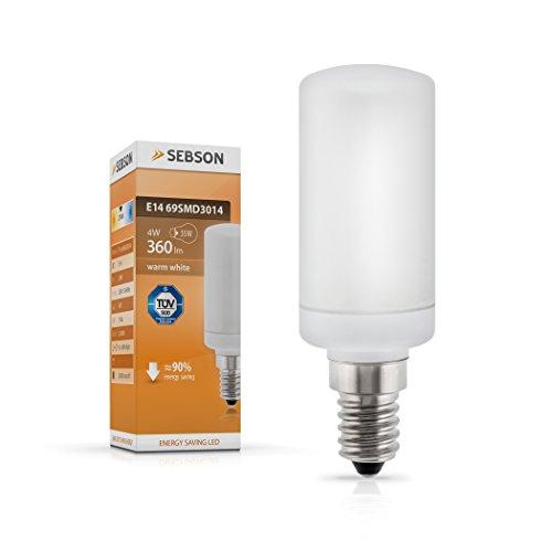 SEBSON E14 LED 3,8 W Lampe Matt – vgl. 35W Glühlampe – 360 Lumen – E14 LED warmweiß – LED Leuchtmittel 160°