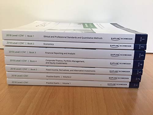 Schweser CFA Level 1 2018 Exam Prep (Book 1-5, Practice Exams 1-2)