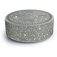 atFoliX Amazn Echó Dot (2. Generation) Skin FX-Glitter-Sterling-Silver Designfolie Sticker - Reflektierende Glitzerfolie