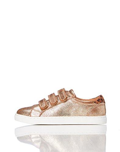 RED WAGON Mädchen Sneaker mit Metallic-Oberfläche, Gold (Gold), 28 EU