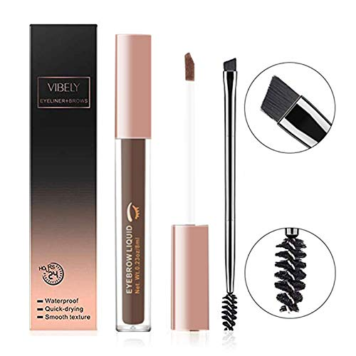 Gel per Sopracciglia lunga Durata Resistente All'acqua Tatuaggio liquido Colorante per Sopracciglia Doppio fine Pen Eye Makeup