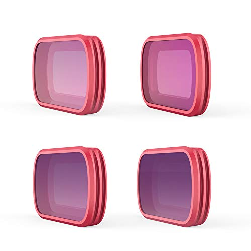 KPILP DJI Zubehör, ND8 / PL ND16 / PL ND32 / PL ND64 / PL Objektivfilter für DJI OSMO Pocket, Professioneller, tragbarer Kamerafilter, Objektiv