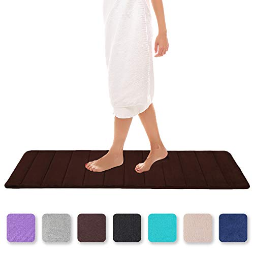 Colorxy Badteppich aus Memory-Schaum, weich und saugfähig, rutschfest, groß, für Küche und Badezimmer 16