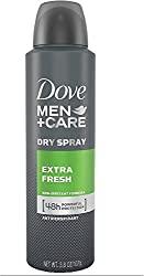 Dove Men + Care Dry Spray Antiperspirant, Extra Fresh 3.8 oz