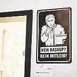 getDigital Blechschild KEIN Backup KEIN MITLEID | Metallschild, Dekoschild, Wandschild, Poster für Nerds, Programmierer und Sysadmins | 20x30cm