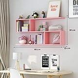 Willesego Regale Weinregal Kreative Wand Restaurant Hängenden Schrank Wohnzimmer Schrank Moderne Einfache Wandregale (80x15x30cm) - Lagerregal (Farbe: PINK) (Farbe : Rosa, Größe : -)