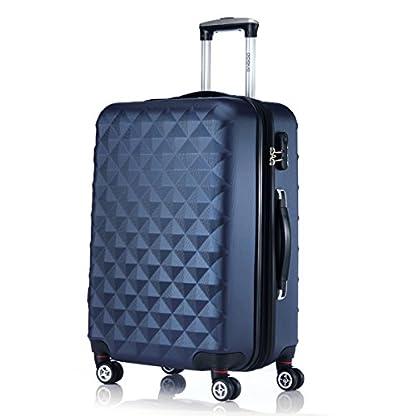 Ruedas gemelas 2066rígida Maleta Equipaje de viaje Maleta viaje para M de l de XL de Juego en 12colores, azul oscuro, extra-large