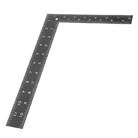 Angle 90degrés en acier inoxydable 0–30cm 0–20cm échelle règle carré