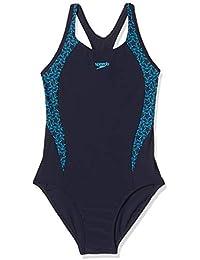 Speedo Boom Splice Muscleback Bañador Niña para Natación, Color Marina/Azul Piscina, Talla 15,16 Años