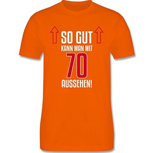 Geburtstag - So gut kann man mit 70 aussehen - Herren Premium T-Shirt Orange