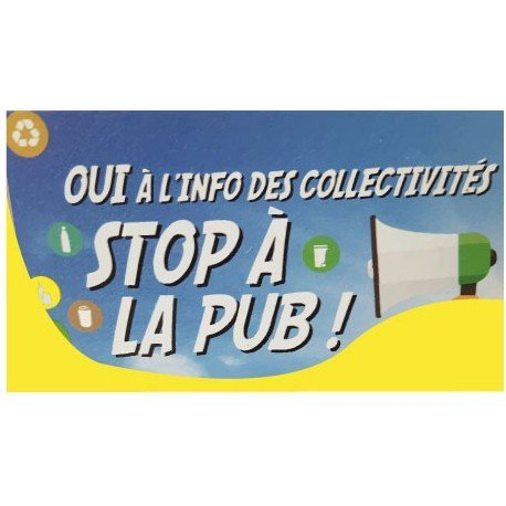 Autocollant sticker Stop Pub 2 boite lettres stickers adhésif -