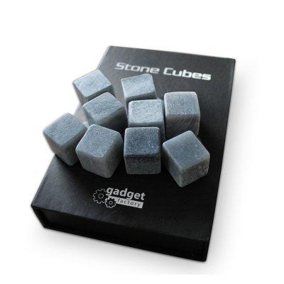 Cubetti refrigeranti in PIETRA NATURALE - kit da 9 pezzi ghiaccio roccia steatite - Pietra Naturale Della Roccia