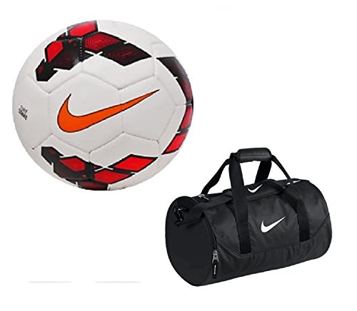 Giftadia FIFA Official Nike Strike Premier League Replica Multicolor Size 5 Football With Nike Duffle Canvas Sports Kit Bag  available at amazon for Rs.799