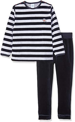 Sanetta Sanetta Baby-Jungen Zweiteiliger Schlafanzug Pyjama Long, Blau (Nordic Blue 5962.0), 74