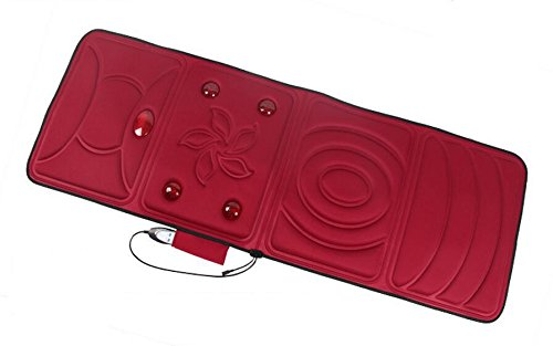 Preisvergleich Produktbild AMYMGLL Vibrationsmassage Pad Körpermassage Pad Vibrationsheizung (Haushalt, 9 Motor) (für Gesäß, Beine, Kopf, Hals, Taille, Rücken, Füße) , red
