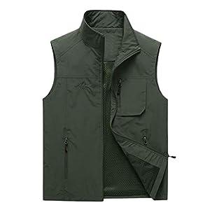 WINLISTING Art und Weisemänner beiläufige Feste im Freien schnell trocknende Weste Jacke übersteigt Bluse