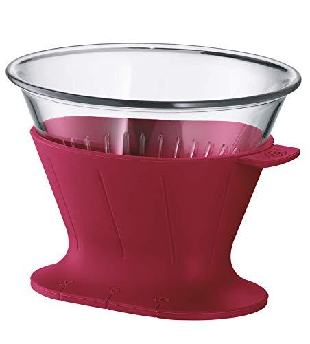 alfi 0095.278.002 Kaffeefilter Tritan, Rubin Rot, Größe 4, Filter zum direkten Brühen in 1 oder 2 Tassen bzw. Kannen mit größerem Ausgießer