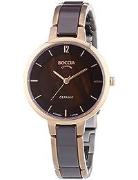 Boccia Damen-Armbanduhr XS Analog Quarz Keramik 3236-04