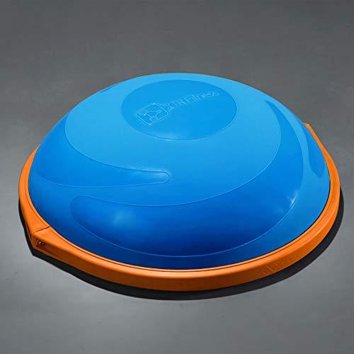 ZHLXZ Half Ball Balance Trainer, Ø 60Cm Inkl Hand Pumpe Beidseitig Nutzbar,Blue,B -
