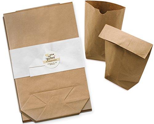 24 braune Papiertüten für Adventskalender, Gastgeschenke, Geburtstag, Hochzeit, 17 x 26 cm Geschenktüten, Adventskalendertüten zum selbst befüllen und verpacken, blickdichte Kraftpapier Tüten mit Boden, ungefädelt, Set