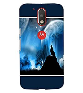 PrintDhaba Night Sky View D-1304 Back Case Cover for MOTOROLA MOTO G4 PLUS (Multi-Coloured)