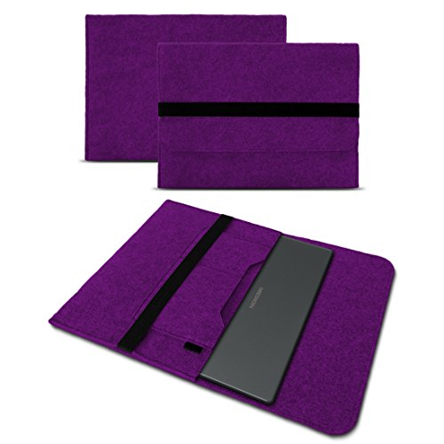 UC-Express Sleeve Hülle für Medion Akoya E3222 E3223 13,3 Zoll Tasche Filz Notebook Cover Laptop Etui Schutz Case sicherer Verschluss, Farbe:Lila