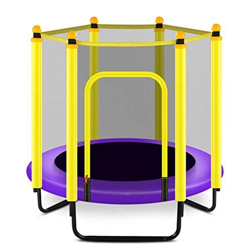 KOJO Trampolin Mit dem Schutznetz, das faltbar und einfach zu tragen ist, kann das Pedal-Bett, das Baby-Innenaußenhüpfbett der Kinder verbiegen (Color : Purple)