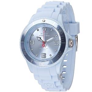 Detomaso DT3007-T – Reloj analógico de Cuarzo para Mujer, Correa de Silicona Color Azul (Agujas luminiscentes, Cifras luminiscentes)