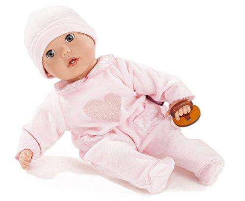 Götz 1620116 Muffin Hearts Puppe - 33 cm Babypuppe mit blauen Schlafaugen, ohne Haare und Weichkörper 4-teiliges Set - Weichkörperpuppe ab 18 Monaten (Me Dress Kleidung)