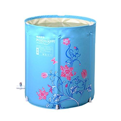 Everyday Home Adult Bracket Badewanne Falten tragbare Baby Badewanne Fass Schwimmbad Multi-Purpose Home Badezimmer Zubehör (Farbe : Blau, größe : 65 * 70cm)