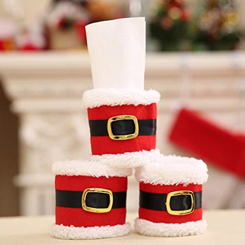 Hemore Weihnachtsserviettenringe, Handtuchringe, Weihnachtsgürtel, Tischdekoration