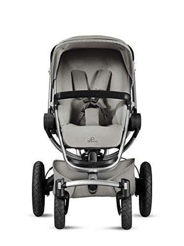 Quinny Buzz Xtra Kombi-Kinderwagen und Sportbuggy (ab der Geburt nutzbar mit Maxi-Cosi Babyschale, automatische sekundenschnelle Aufklappfunktion und robuste Reifen für jedes Gelände) grau