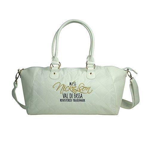 Nickelson Vigo di Fassa Donna Bowler Bag, Fluo Coral Off White