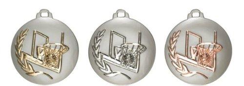 3D Medaille Basketball silber (Sieger Auszeichnung Medaillen)