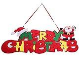 Xiton Navidad Puerta Colgante decoración Feliz Navidad inglés Signo suspensión Navidad Puerta Colgante Ornamento 1pc Rojo