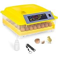 Incubato Brutapparat Inkubator Brutmaschine IN-48DDI (für 48 Eier, inklusive Schierlampe und Wasserspender, 20-50 °C, intelligente Temperaturregelung, 80 W Motor)