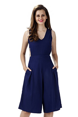 Miss Chase Women's Crepe Cut-out Jumpsuit