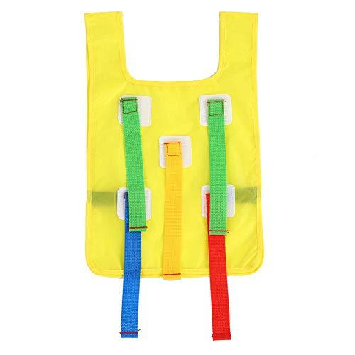 Nitrip Kinder Sticky Grab Jersey Weste Spielwesten Kindergarten Kids Activity (Gelb)