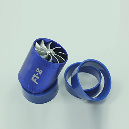 Zantec Inyección universal de aire Turbocompresor doble Ahorro de combustible de turbo Ahorro de gas Tubo de aceleración inflado