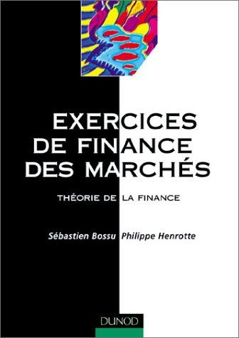 Exercices de finance des marchés : Théorie de la finance